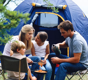 camping ausflug familie