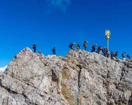 Zugspitze Aufstieg: Wandern auf der Zugspitze