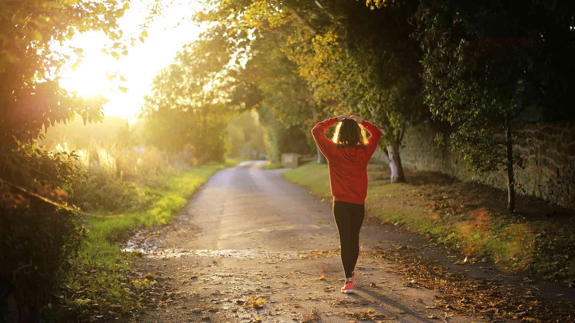 Outdoor-Sport im Herbst