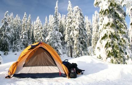 Schnee Camping