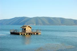 Hütte auf dem Meer