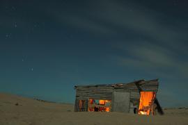 Hütte in der Wüste