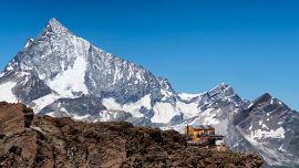 Hütte auf dem Berg